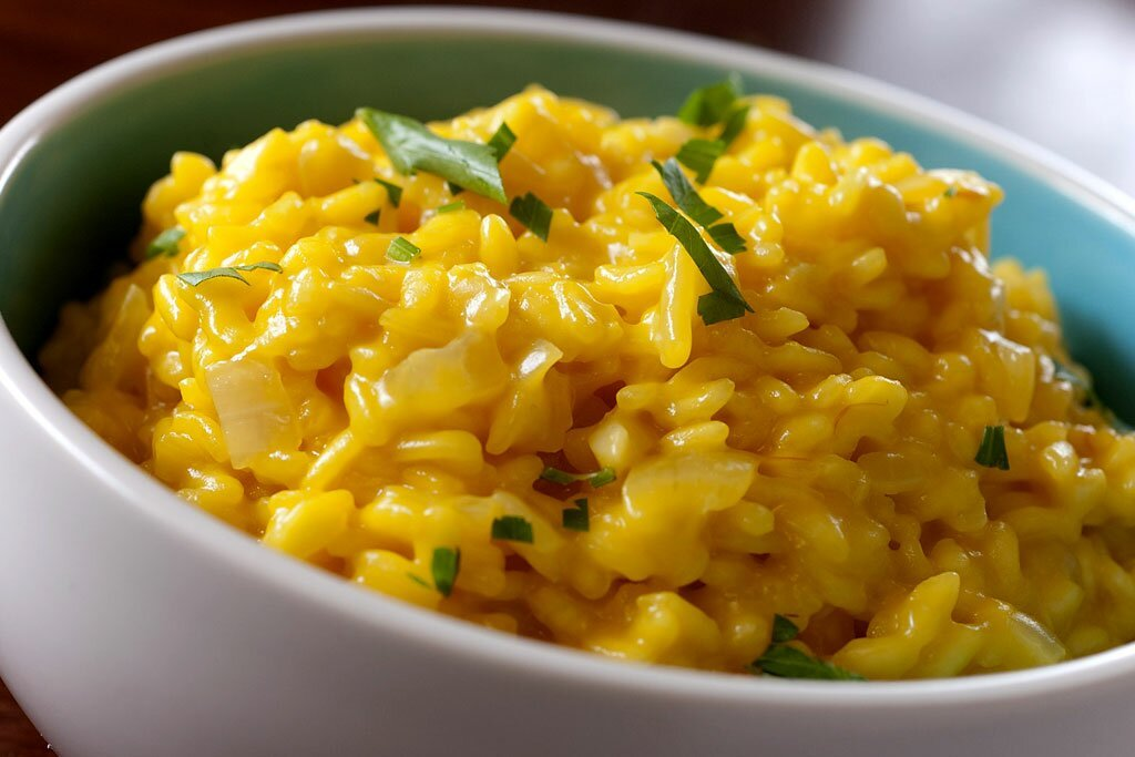 açafrão risoto risotto