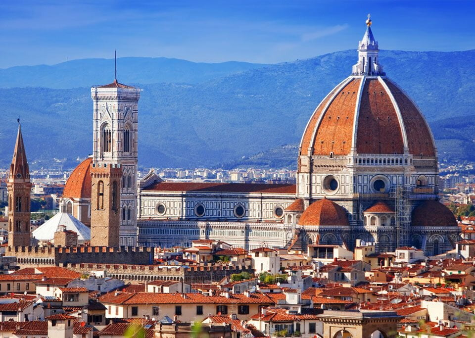 Vista geral de Florença, Toscana