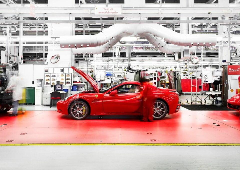 Interior de fábrica da Ferrari
