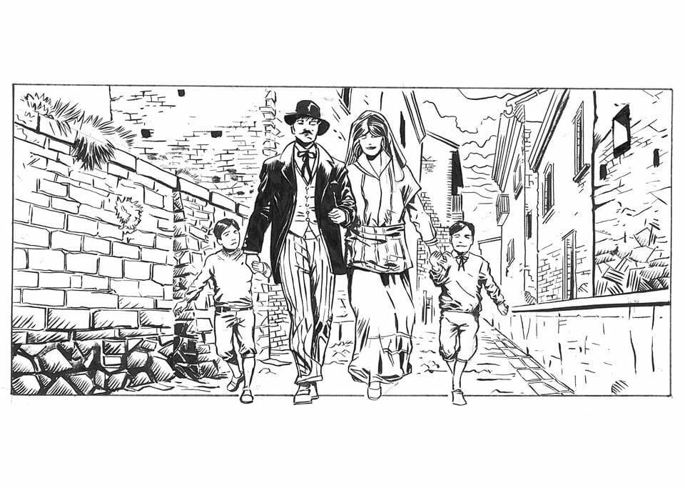 História em quadrinhos para contar a história dos sobrenomes
