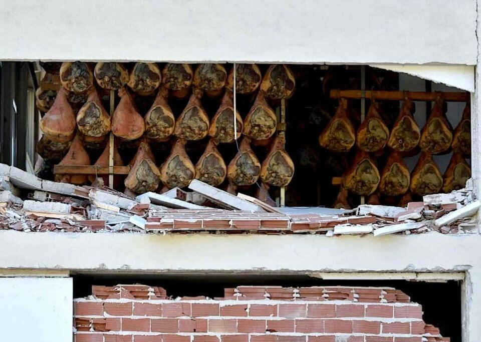 Terremoto destrói produção artesanal de presunto em Norcia