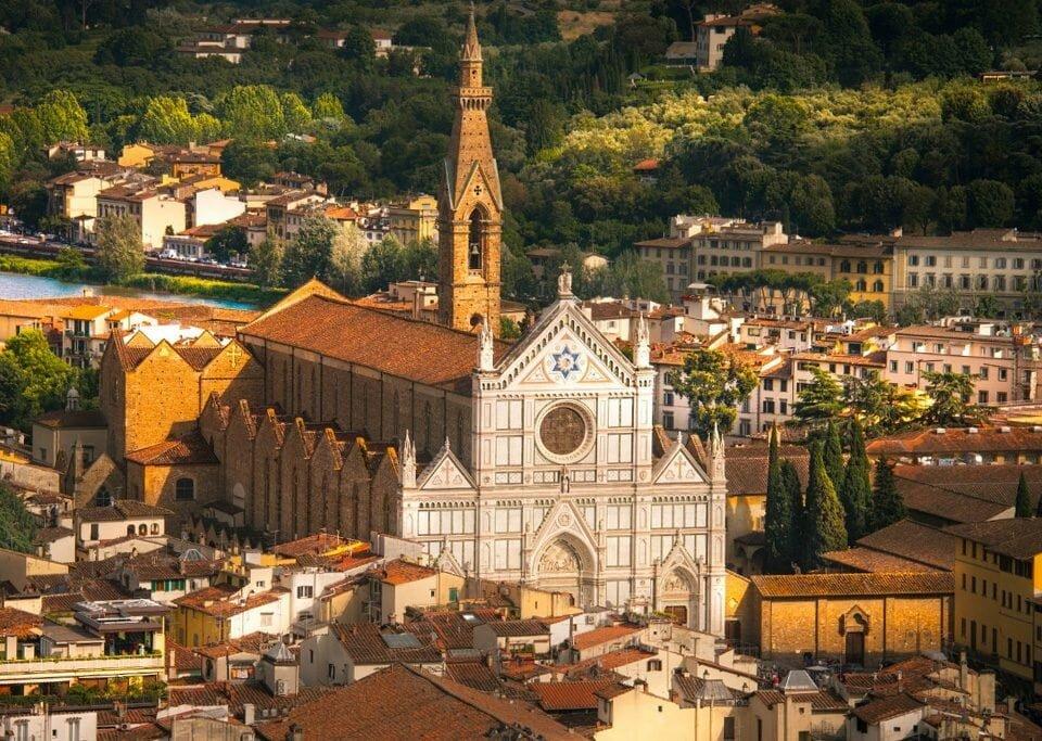 Basílica Santa Croce, em Florença, sede do primeiro G7 da Cultura, em 2017 / Foto: Luciano Neves