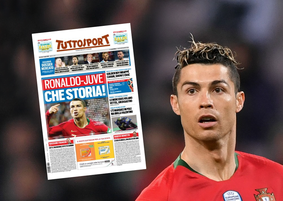 Cristiano Ronaldo na rota da Juventus, diz jornal italiano