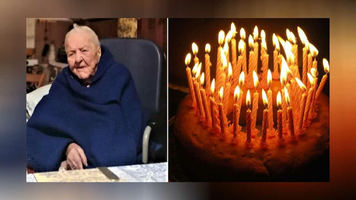 Nonna Marietta completa 111 anos na Italia