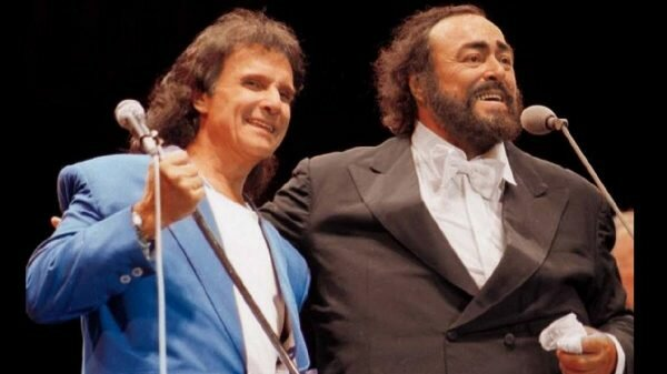 Roberto Carlos e Luciano Pavarotti