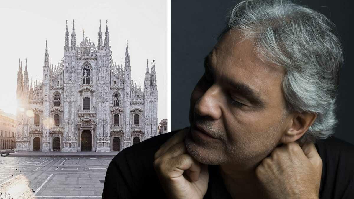 Andrea Bocelli ao vivo direto da Duomo de Milão