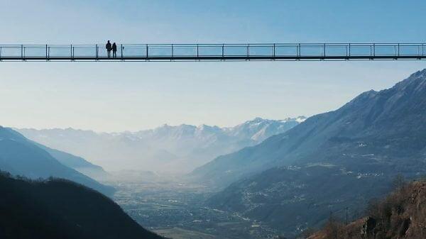 Ponte tibetana na Itália