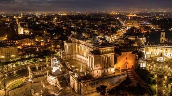 Roma vista do céu