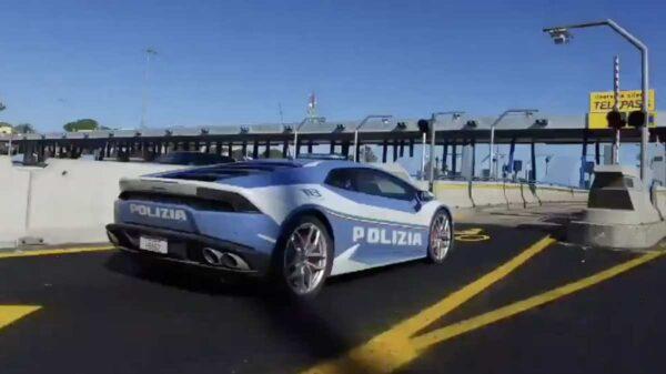 policia italiana lamborghini