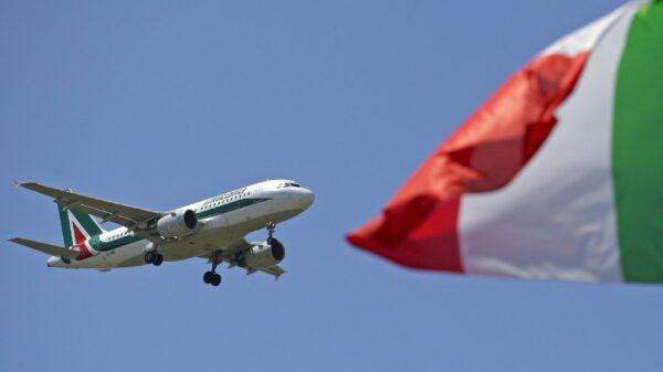Alitalia companhia aérea pontual