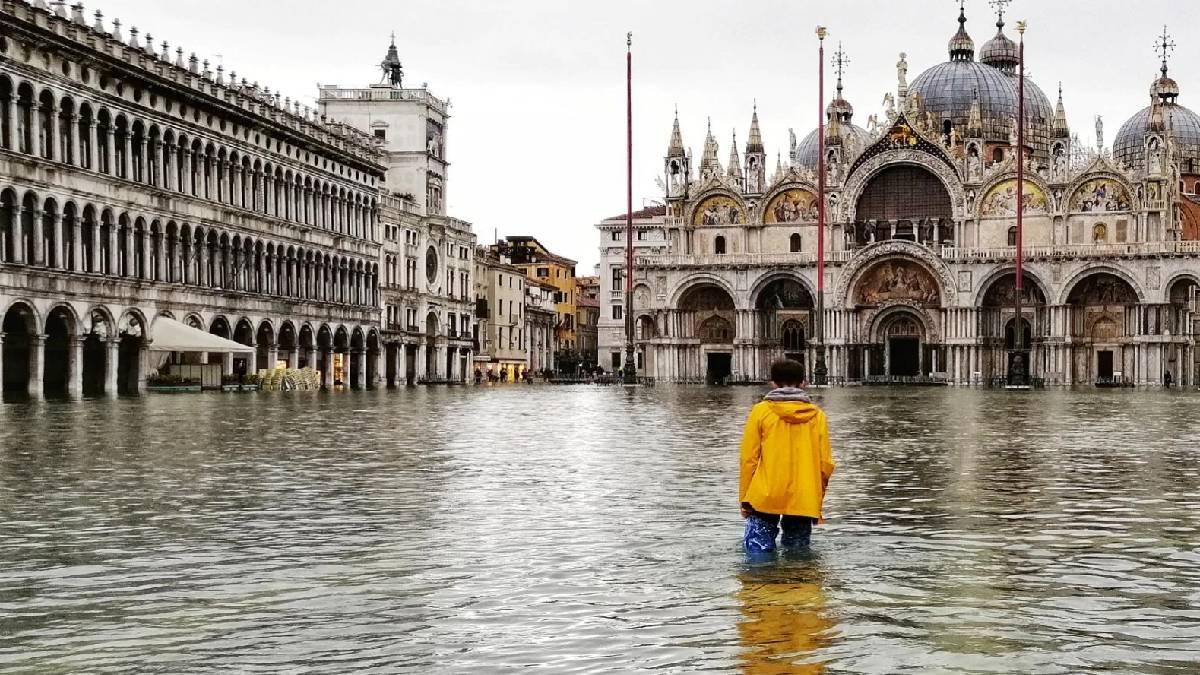 Veneza em risco de inundação