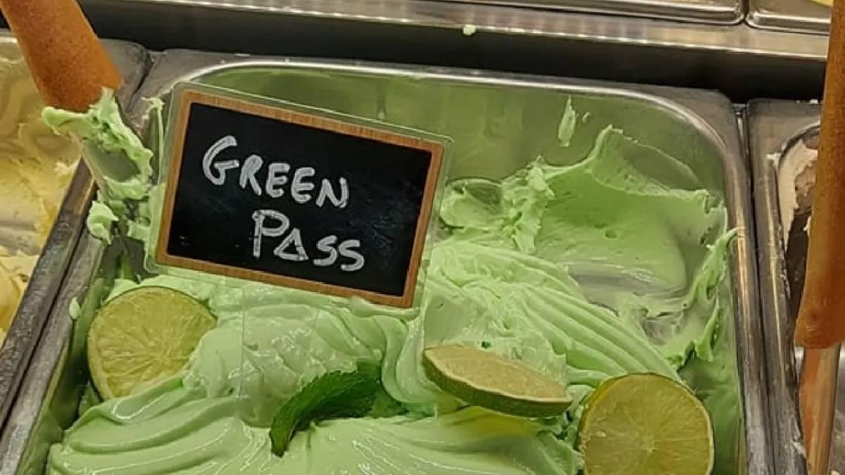 sorvete green pass